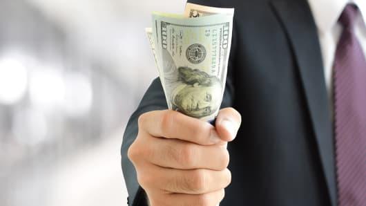 Fistfull of money