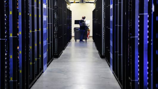 A Facebook data center in Prineville, Oregon.