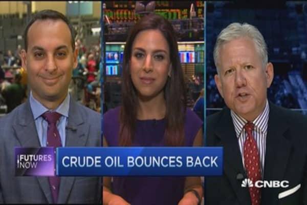 Futures Now: Crude snaps 4-day losing streak