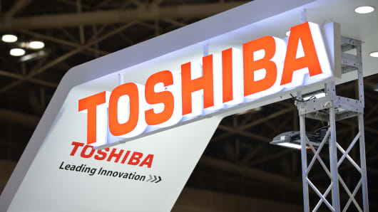 This picture shows a logo mark of Toshiba.