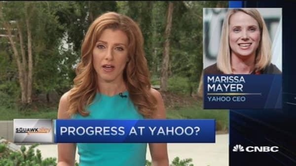 Is Yahoo's Marissa Mayer making progress?
