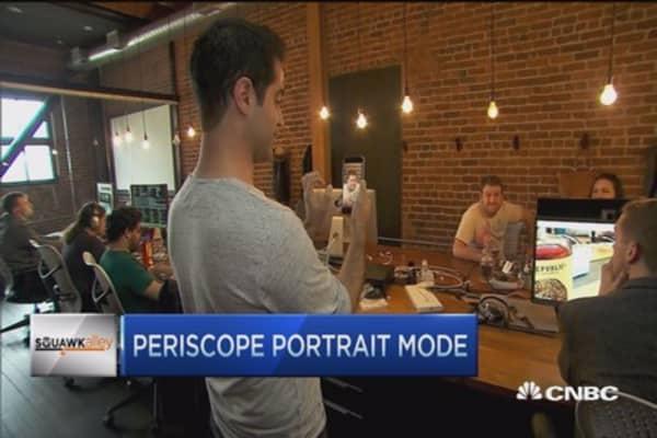 Periscope's portrait mode