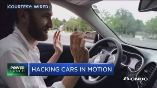 Hacking cars in motion