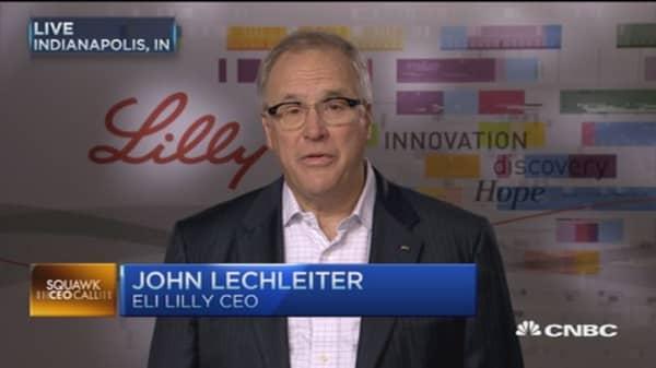 Eli Lilly CEO beats Street, raises forecast: CEO