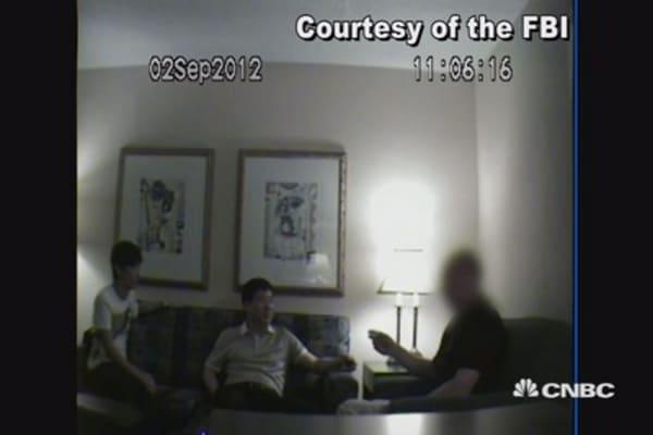 Surveillance video: Chinese espionage bust in Missouri hotel