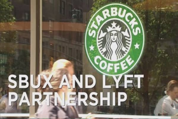 Starbucks teams up with Lyft