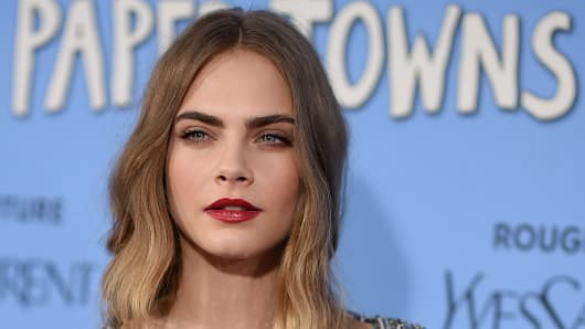 Actress Cara Delevingne attends the 'Paper Towns' New York Premiere at AMC Loews Lincoln Square on July 21, 2015 in New York City.