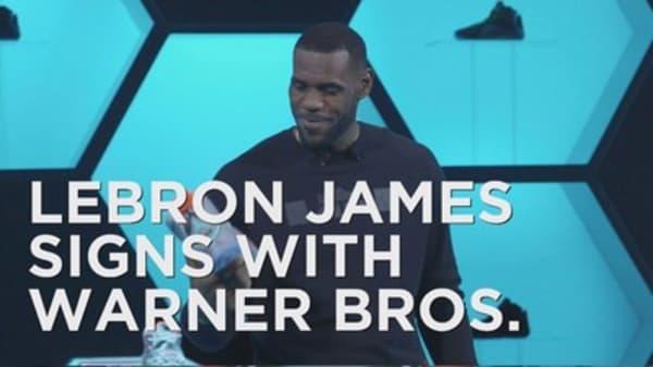 LeBron James signs with Warner Bros