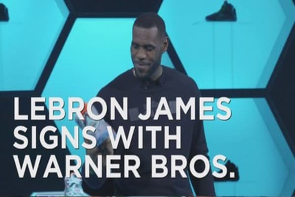 LeBron James signs with Warner Bros