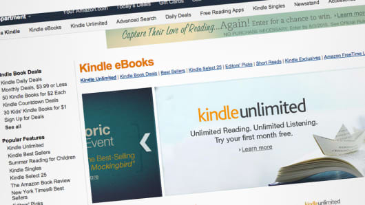 Amazon Kindle eBooks webpage