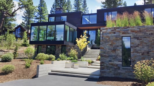 One of the multimillion-dollar properties at Martis Camp in Lake Tahoe, where tech heavyweights from Google, Apple and Facebook all have second homes.