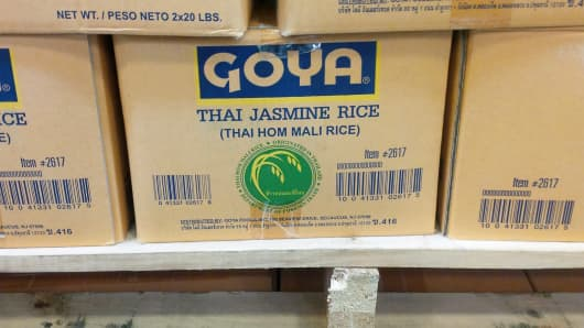 Box of Goya Thai Jasmine Rice