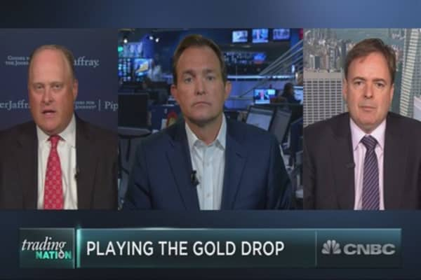 The gold mining collapse