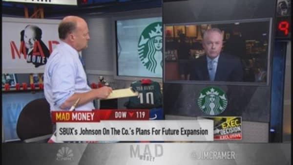 Starbucks to Cramer: Best quarter ever in history