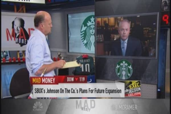 Starbucks to Cramer: Best quarter ever in history