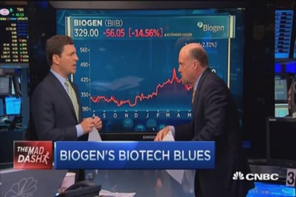 Cramer's Mad Dash: Biogen's biotech blues