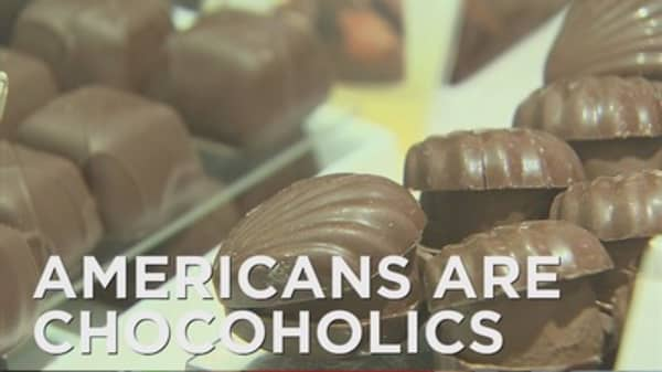 Americans are major chocoholics