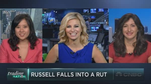 Russell falls in a rut