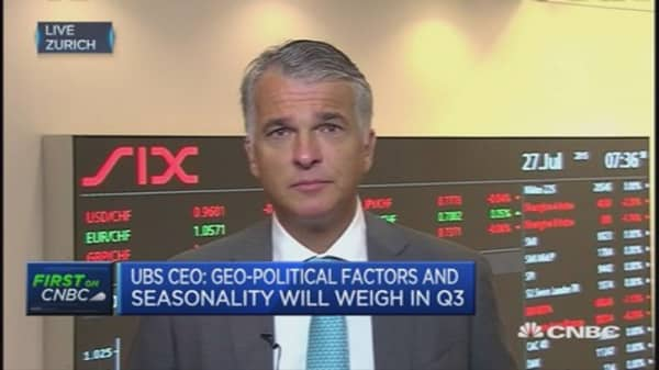 UBS CEO: Why we released our results early