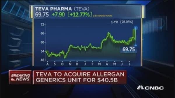 Teva to acquire Allergan generics for $40.5B