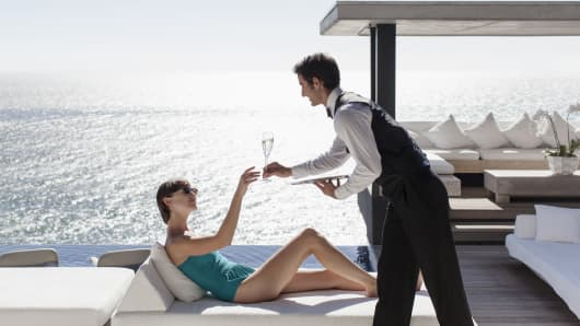 Luxury vacation wealth wealthy service
