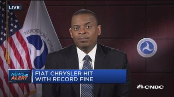 Record fine against Fiat Chrysler