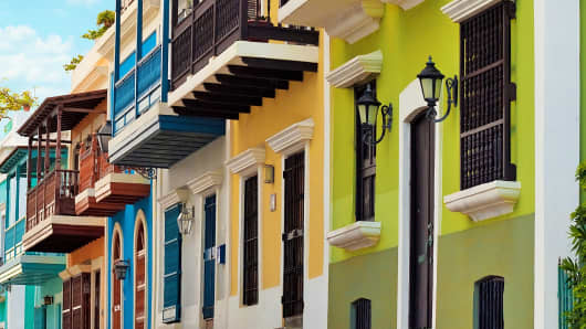 Houses in Old San Juan.