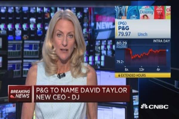 P&G to name David Taylor new CEO: DJ