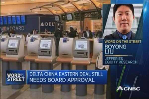 Delta to buy stake in China Eastern for $450M