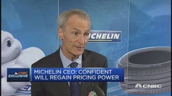 China slowdown is no surprise: Michelin CEO