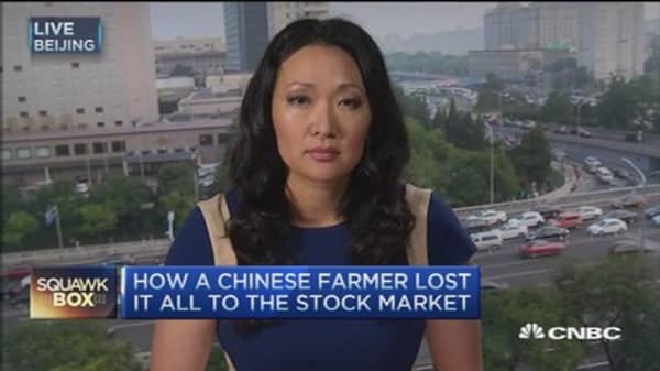Chinese farmer loses money and hope to stock market