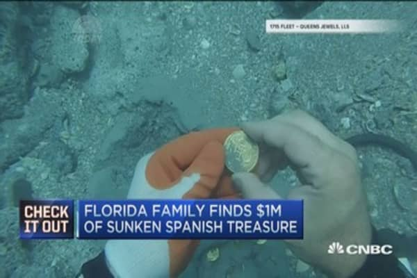 Florida family finds $1M sunken Spanish treasure