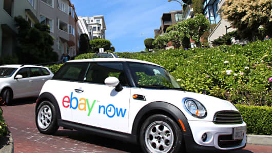 An eBay Now car