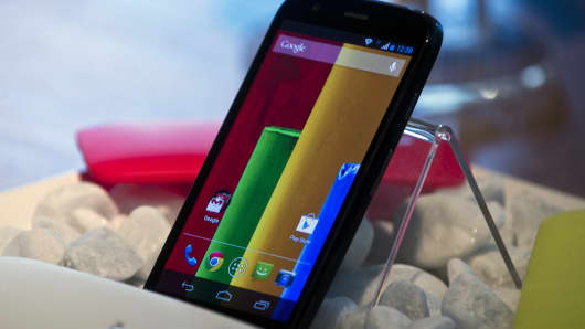 The new low cost smartphone of Motorola, 'Motorola Moto G'.