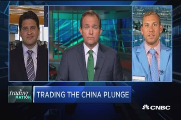 Trading the China plunge