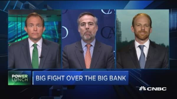 Big fight over the big bank