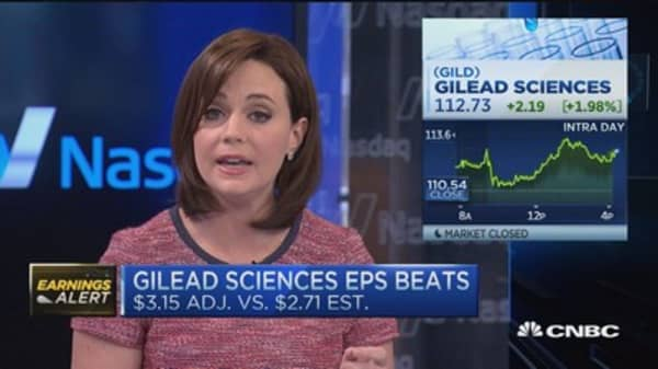 Hep C revenue beats at Gilead