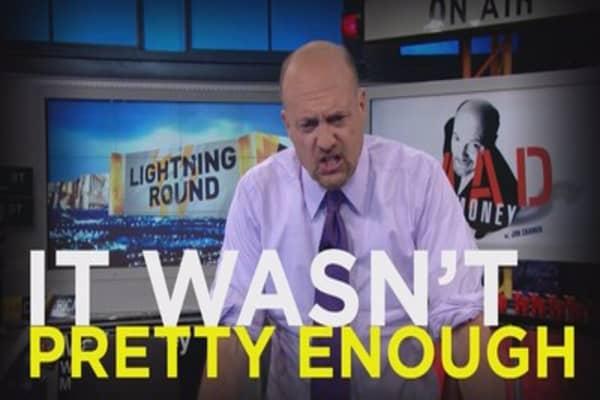 Cramer: This stock just isn't good enough