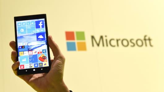 Microsoft's Windows 10 operating system.