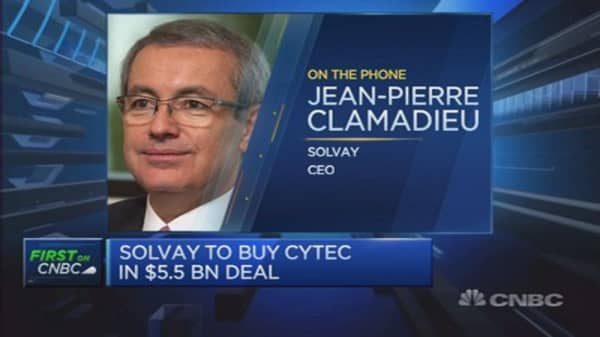 Cytec is 'very attractive' next step: Solvay CEO