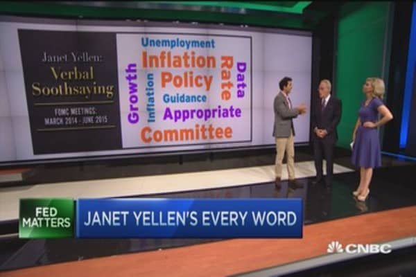 Janet Yellen's every word...
