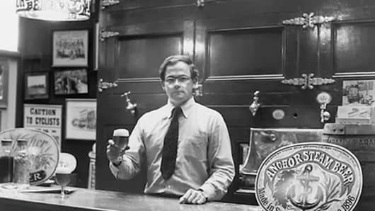 Fritz Maytag in 1965, the year he purchased a majority stake in the brewery.