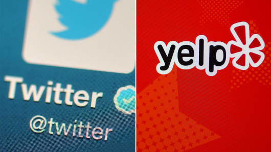 Twitter Yelp