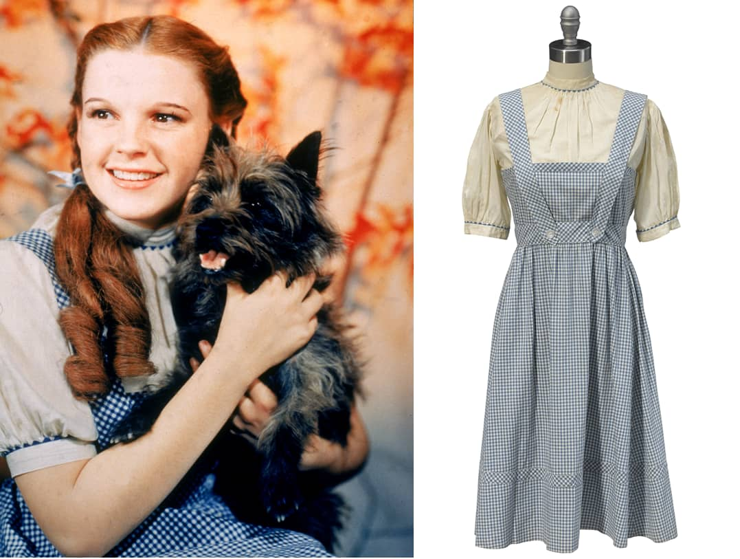 Judy Garland's Dorothy dress from the 'Wizard of Oz' expected to ...
