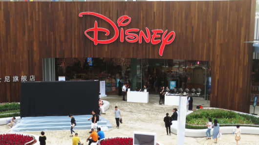 China's first Disney flagship store in Shanghai last May.