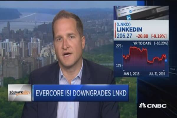 LinkedIn downgrade to a hold