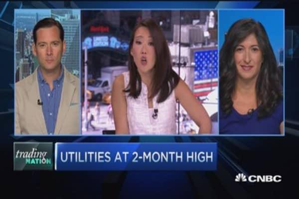 Investors loving utilities again