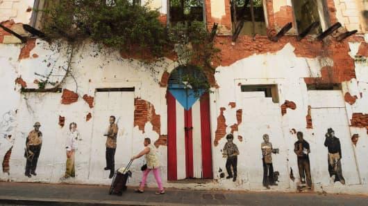 A rundown building in Old San Juan, Puerto Rico.