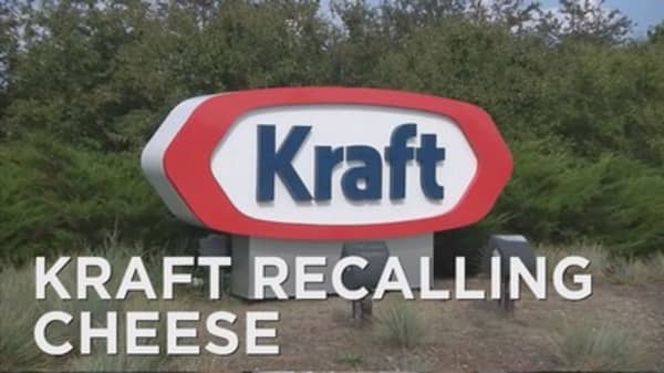 Kraft recalls their sliced cheese