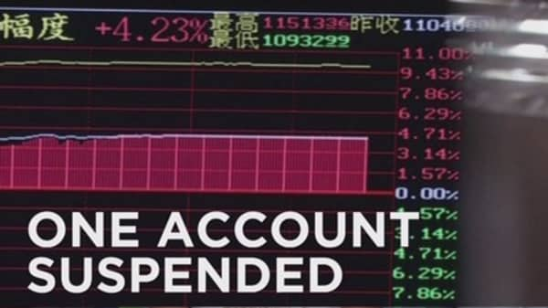 Citadel account suspended in China
